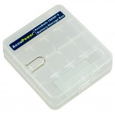 Universal AccuPower AccuSafe storage box for 18650 / CR123 cells
