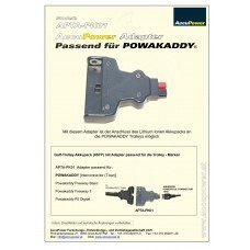 AccuPower Adapter suitable for Powakaddy