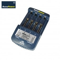 AccuPower LCD Fast Charger IQ338 for Li-Ion/Ni-MH/Ni-Cd