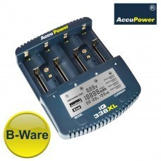 AccuPower LCD Fast Charger IQ338XL for Li-Ion/Ni-MH/Ni-Cd