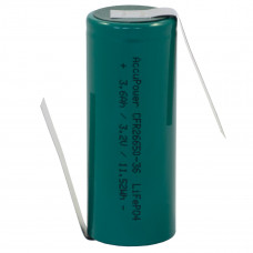 AccuPower LiFePO4 26650 3,2V 3600mAh with solder tag z-shaped